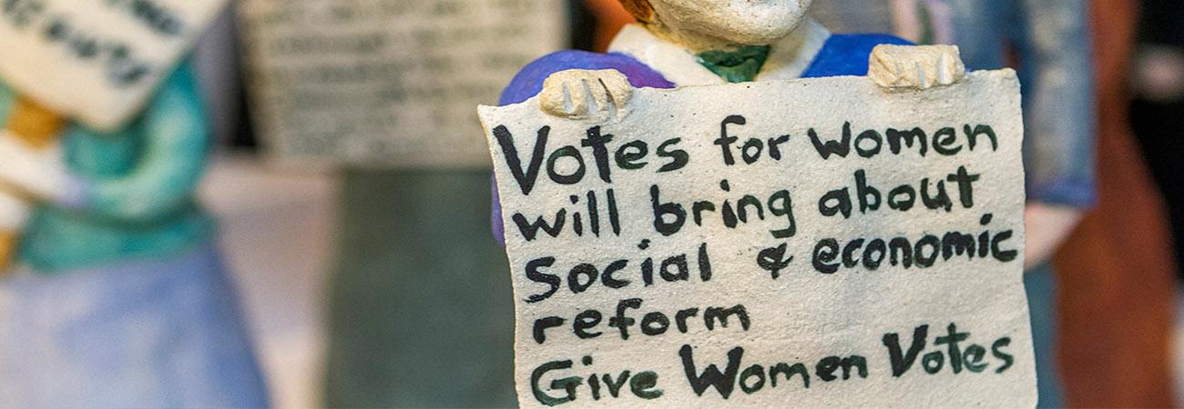 Banner women voting